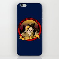 river song iPhone & iPod Skins featuring Where In Time and Space Is River Song? by mikaelak