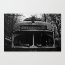 All Aboard the zombie TRAIN Canvas Print