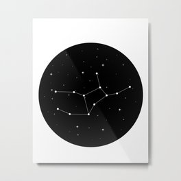 Virgo Constellation Metal Print