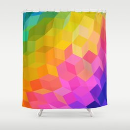 Rainbow Ball Shower Curtain