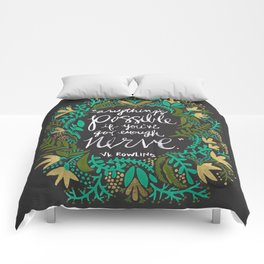 Anything's Possible on Charcoal Comforters