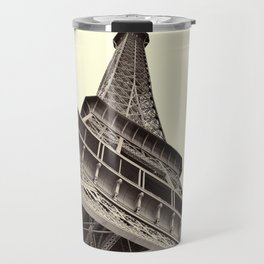 The famous Eiffel Tower in Paris, France in sepia. Vintage photography Travel Mug