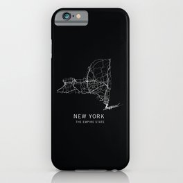New York State Road Map iPhone Case