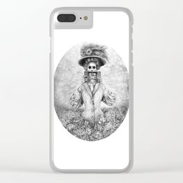 Undead Woman n Vintage Camera Clear iPhone Case