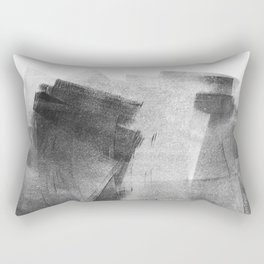 Black and Grey Concrete Texture Urban Minimalist Rectangular Pillow