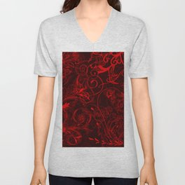 floral ornaments pattern ch Unisex V-Neck