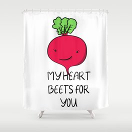 Kawaii vegetable beet for valentines day or your love Shower Curtain