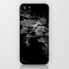 vancouver map canada iPhone Case
