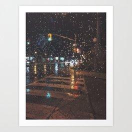 rainy bokeh Art Print