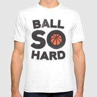 Ball So Hard MEDIUM Mens Fitted Tee White