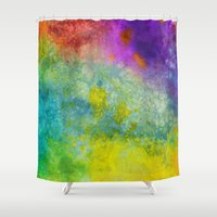 poop Shower Curtains featuring Unicorn Poop by Andrea Gingerich