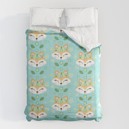 Woodland Animals Cute Fox Comforters