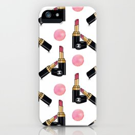 Fashion lipstick print  iPhone Case