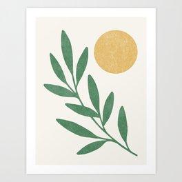 Leaf Sun 1 Art Print