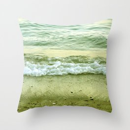 surf lace: gold variations Throw Pillow