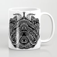 henna Mugs featuring Henna of Pugly by Huebucket