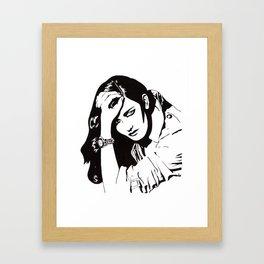 In Black & White IV Framed Art Print