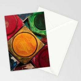 Artists Watercolor Paint Box Palette Stationery Cards
