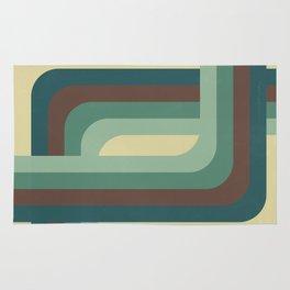 Abstract Retro Stripes Rug