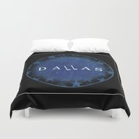 dallas Duvet Covers featuring Dallas by Sally Sparkshine