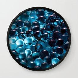 Blue sphere Wall Clock