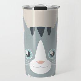 Grey Tabby Cat Travel Mug