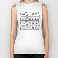 camping Biker Tanks featuring Camping by Corina Rivera Designs