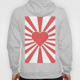 Valentine Heart Red Love Explosion Hoody