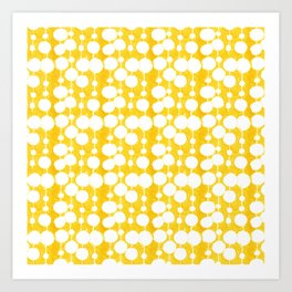Big Fat Drops (yellow) Art Print