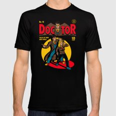 Doctor Comic LARGE Mens Fitted Tee Black