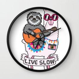 Sloth and Llama Wall Clock