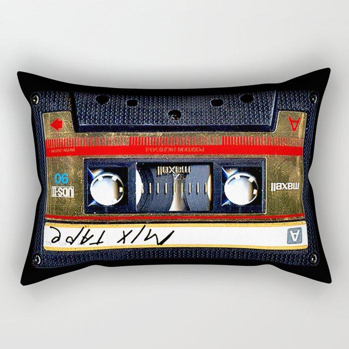 Retro cassette mix tape Rectangular Pillow