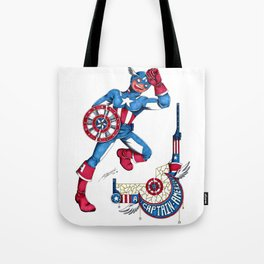 Captain A, the first Avenger Tote Bag