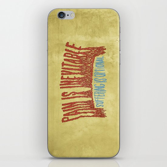 PAIN AND SUFFERING iPhone & iPod Skin