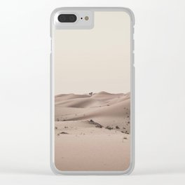 The lonely tree Clear iPhone Case