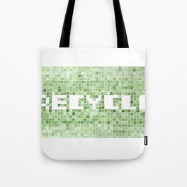 Recycle watercolor mosaic Tote Bag