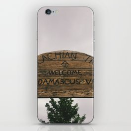 Welcome To Damascus • Appalachian Trail iPhone Skin
