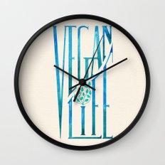 Vegan Life Wall Clock