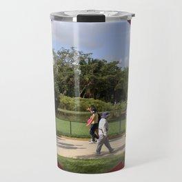 Through the sculpture ... Travel Mug