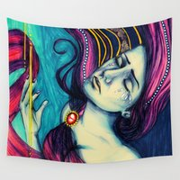 gravity Wall Tapestries featuring Gravity by vdp_art
