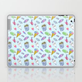 Cute candy and ice-cream pattern Laptop & iPad Skin