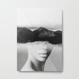 silence of the mountain Metal Print