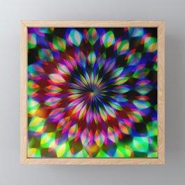 Psychedelic Rainbow Swirl Framed Mini Art Print