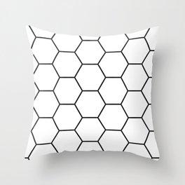 Minimalist Black and White Geometrical Pattern Throw Pillow