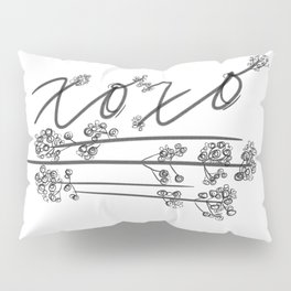 XOXO with Baby's Breath Pillow Sham
