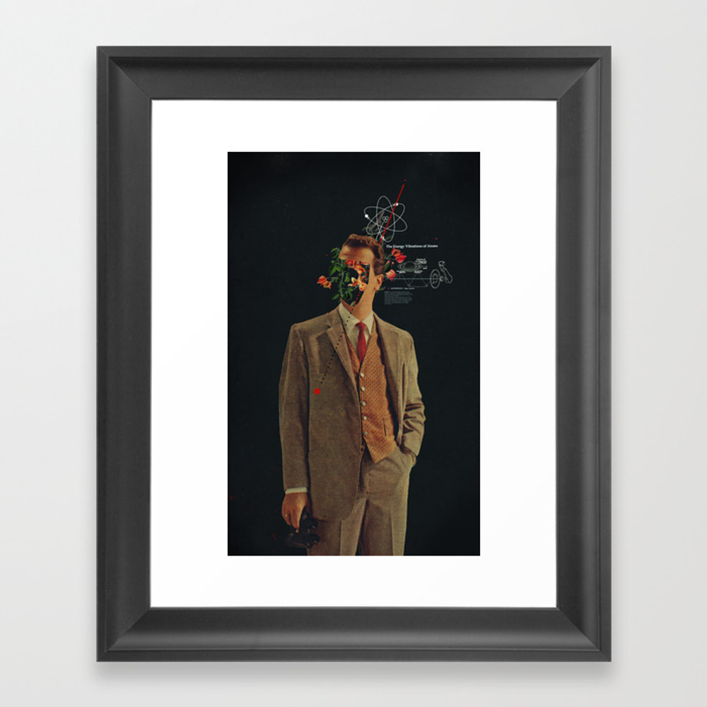 The Energy Vibrations Of Atoms Framed Art Print by Frankmoth FRM2287071