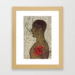Heart Cooks Brain Framed Art Print