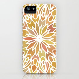 Mandala Desert Copper Gold iPhone Case