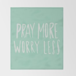 Pray More x Mint Throw Blanket