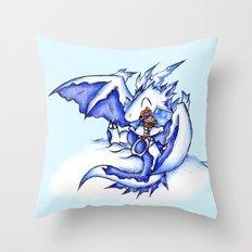 Ice Dragon Ice Cream Bliss Throw Pillow